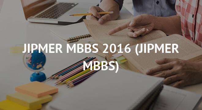 JIPMER MBBS 2016
