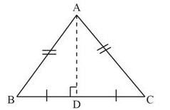 isosceles triangle altitude and median is same