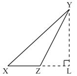 YL is perpendicular from vertex Y to L