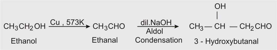 Ethanal/ ethanol to 3-hydroxy butanal